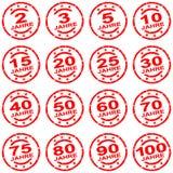 Schmutzbriefmarkensammlung für Jubiläen lizenzfreie abbildung