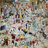 Schmutzbuchstabe-Plakathintergrund Stockbilder