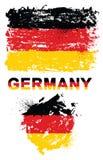 Schmutzelemente mit Flagge von Deutschland stockfotos