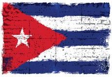 Schmutzelemente mit Flagge von Kuba stockfotos