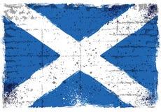 Schmutzelemente mit Flagge von Schottland stockfotografie