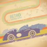 Schmutzentwurf mit Retro Auto. Stockbilder