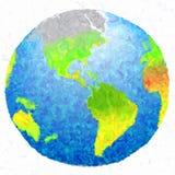 lokalisierter Hintergrund des Schmutzes der Kunst 3d Erdfarbe Stockbild