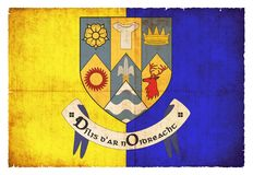 Schmutzflagge von Clare Ireland Stockfotografie