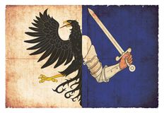 Schmutzflagge von Connacht Irland Lizenzfreie Stockfotos