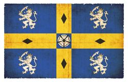 Schmutzflagge von Durham (Großbritannien) Stockbilder