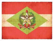 Schmutzflagge von Santa Catarina Brazil stockbilder