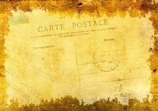 Schmutzhintergrund mit altem Papier der Beschaffenheit und Weinlesepostkarte Stockbilder