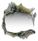 Schmutzhintergrund mit gebrochener Wand Lizenzfreie Stockfotografie