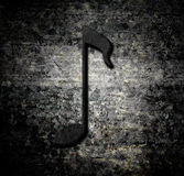 Schmutzhintergrund mit Musikanmerkung Stockbild