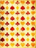 Schmutzhintergrund mit Symbol der Papierbeschaffenheit und der Spielkarten Lizenzfreies Stockbild