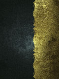 Schmutzhintergrund von Schwarz- und Goldbeschaffenheiten Schablone für Entwurf kopieren Sie den Raum für Anzeigenbroschüre oder M Stockbild