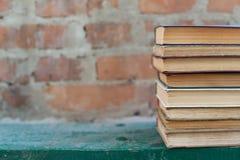 Schmutzige alte abgenutzte Bücher, Hintergrund Lizenzfreies Stockfoto