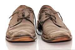 Schmutzige alte Schuhe Lizenzfreie Stockfotos