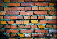 Schmutzige Backsteinmauer Stockfoto