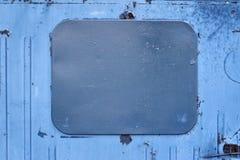 Schmutzige blaue Farbe graues Viereck Dunkle Abdeckung lizenzfreie stockbilder