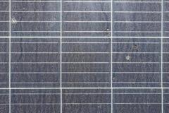 Schmutzige Draufsicht Dusty Solar Panelss lizenzfreie stockbilder