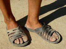 Schmutzige Füße Stockbild