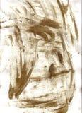 Schmutzige Fingerabdrücke auf Papier Stockfoto