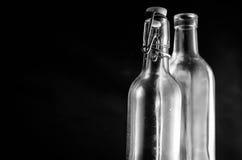 Schmutzige Flaschen Stockfotos