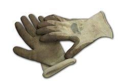 Schmutzige Garten-Handschuhe Lizenzfreies Stockbild
