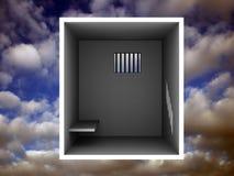 Schmutzige Gefängniszelle lizenzfreie abbildung