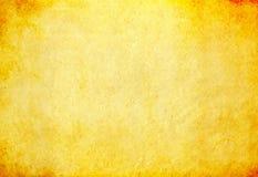 Schmutzige gelbe Papierbeschaffenheit Lizenzfreies Stockfoto