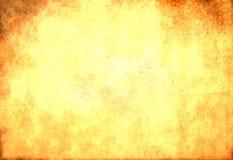Schmutzige gelbe Papierbeschaffenheit Lizenzfreies Stockbild
