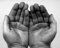 Schmutzige Hände. Lizenzfreie Stockfotos