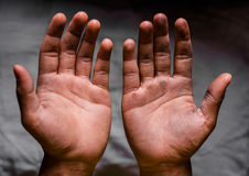 Schmutzige Hand Stockfotos