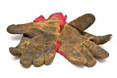 Schmutzige Handschuhe Lizenzfreies Stockbild