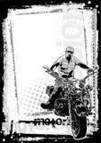 Schmutzige Hintergrundvertikale des Motorrads Stockfotografie