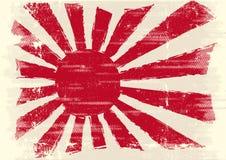 Schmutzige Japan-Markierungsfahne Stockfotografie