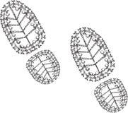 Schmutzige Kennzeichen von den Schuhen Lizenzfreie Stockfotografie