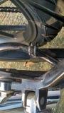 Schmutzige KupplungsKabelschelle in Suzuki Satria-fu lizenzfreie stockbilder