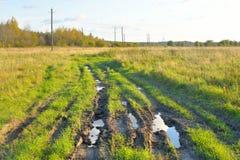 Schmutzige landwirtschaftliche Straße Lizenzfreie Stockfotografie