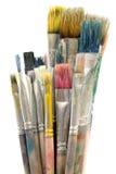 Schmutzige Malerpinsel Lizenzfreies Stockfoto