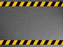 Schmutzige Metallbeschaffenheit - industriell - Warnen Lizenzfreies Stockfoto