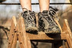 Schmutzige Schuhe Stockfotografie