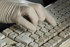 Schmutzige Tastatur Stockfoto