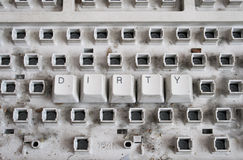 Schmutzige Tastatur Stockbilder