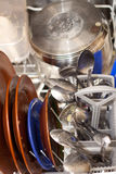 Schmutzige Teller in der Spülmaschine Lizenzfreie Stockfotografie