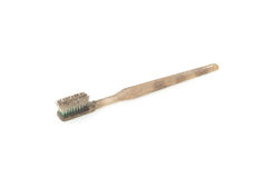 Schmutzige und getragene heraus Zahnbürste Stockfotografie