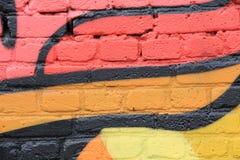 Schmutzige Wand fünf des Ziegelsteines Lizenzfreie Stockfotografie