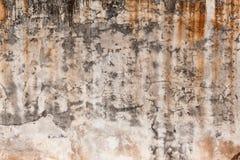 Schmutzige Wand mit defektem Zementputz Lizenzfreie Stockfotografie