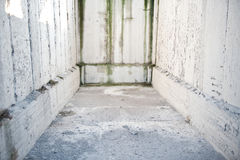 Schmutzige weiße Wände Lizenzfreie Stockfotografie