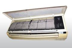 Schmutziger Bereich der Klimaanlage Stockfoto