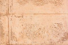Schmutziger Betonblockwandhintergrund Stockfoto