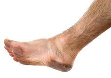 Schmutziger Fuß Stockbild