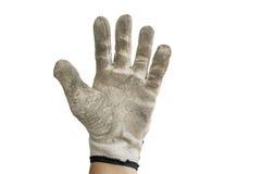 Schmutziger grauer Handschuh Lizenzfreie Stockfotografie